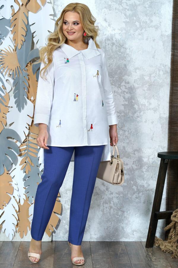 Сине-белый костюм брючный ALANI 1371 купить