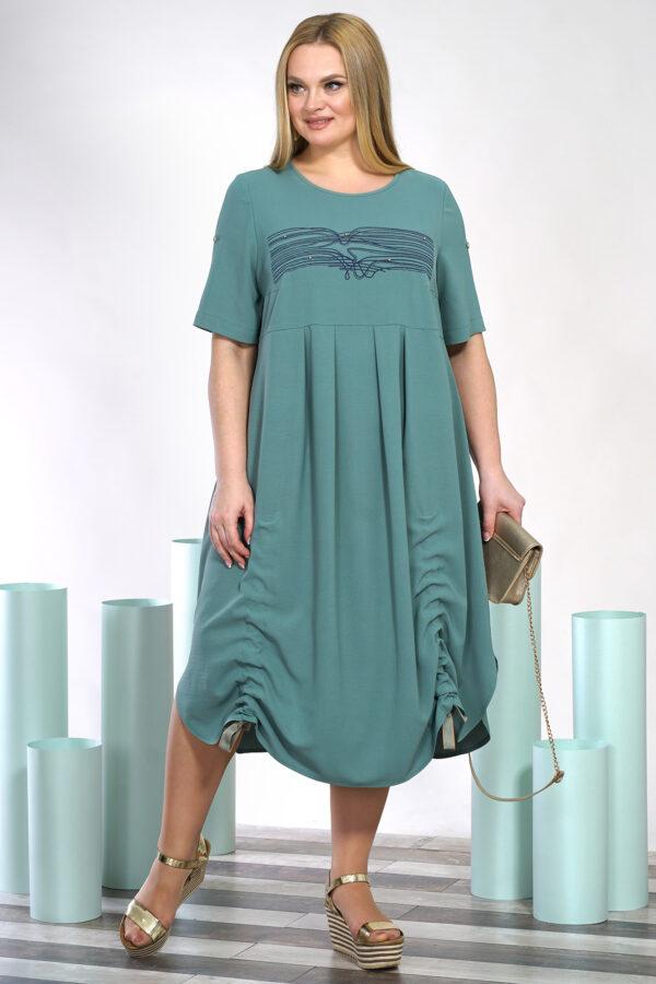 Бирюзовое летнее платье ALANI COLLECTION 1392 купить