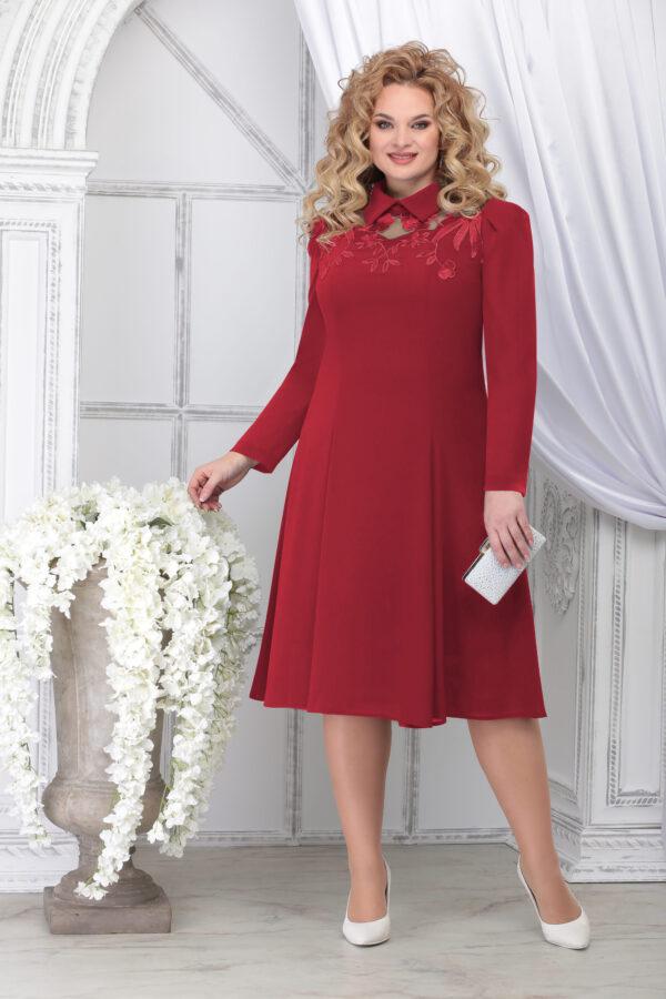 Платье нарядное NINELE 5823 красный купить в интернет-маг