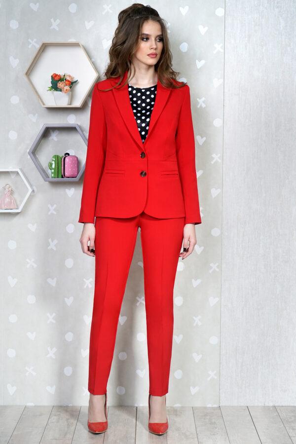 Красный брючный костюм женский ALANI 1333 купить