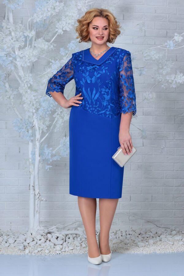 Платье с кружевом большой размер NINELE 2301 купить