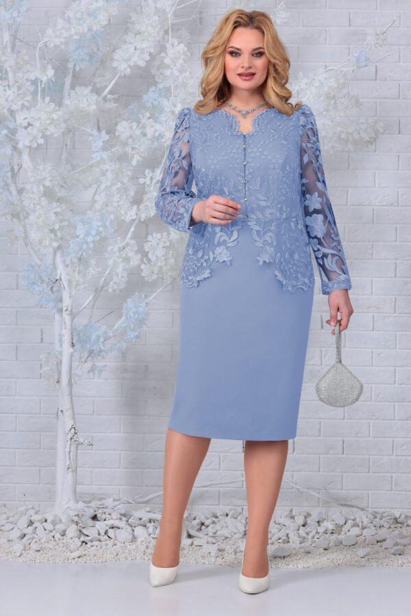 Платье с кружевом для полных стильное NINELE 5845 купить