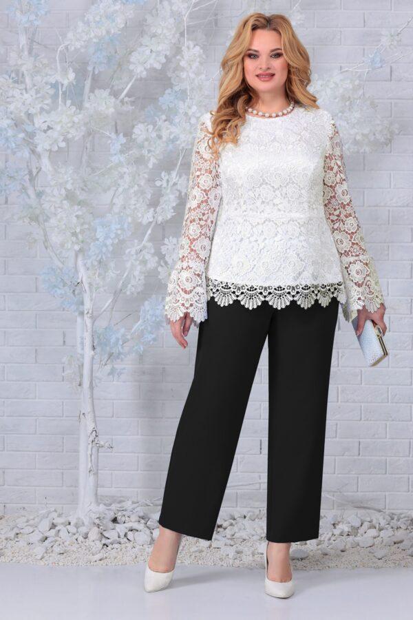 Блузка из кружева и брюки черные NINELE 7330 купить