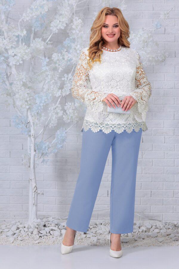 Блузка из кружева и брюки нарядный NINELE 7330 купить
