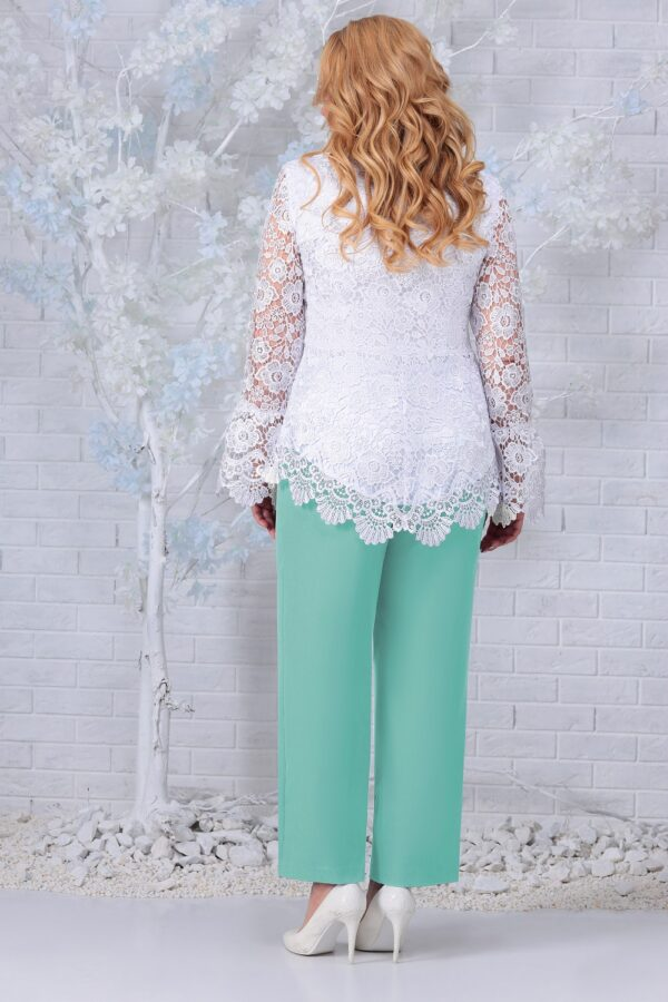 NINELE 7330- белый/зеленый