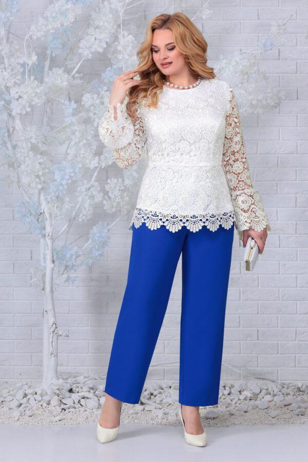Блузка из кружева и брюки синие NINELE 7330 купить