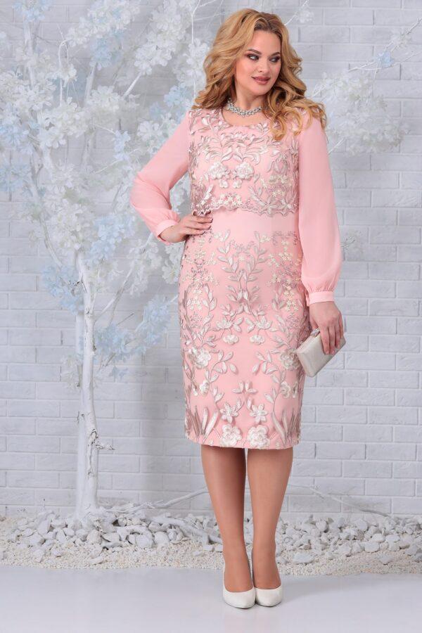 Праздничное платье пудровое NINELE 7331 купить