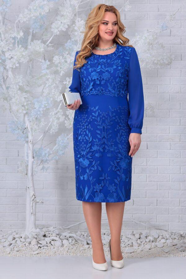 Праздничное платье кружевное василек NINELE 7331 купить