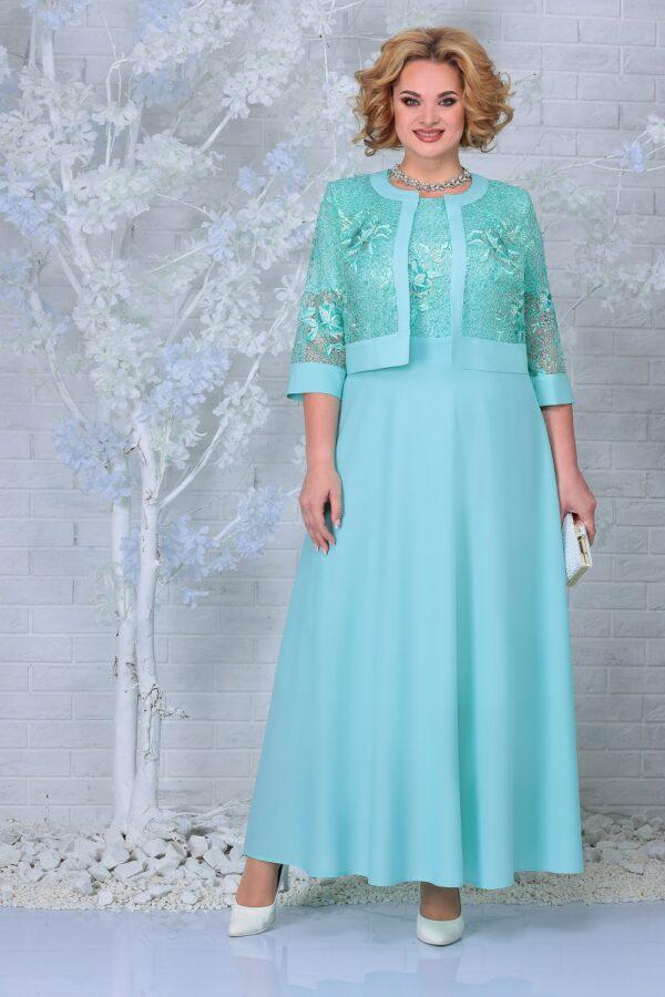 Длинное нарядное платье на свадьбу NINELE 7333 купить
