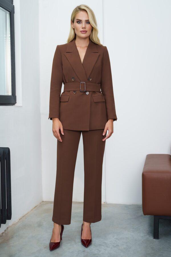 Стильный костюм женский коричневый URS 21-540-2 купить