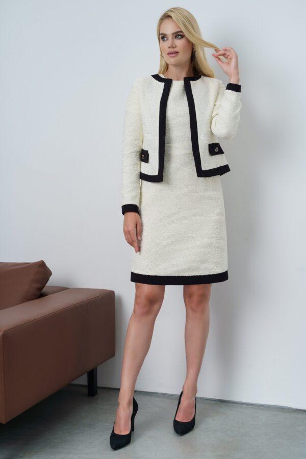 Платье с пиджаком белое прямое URS 21-659-1 купить