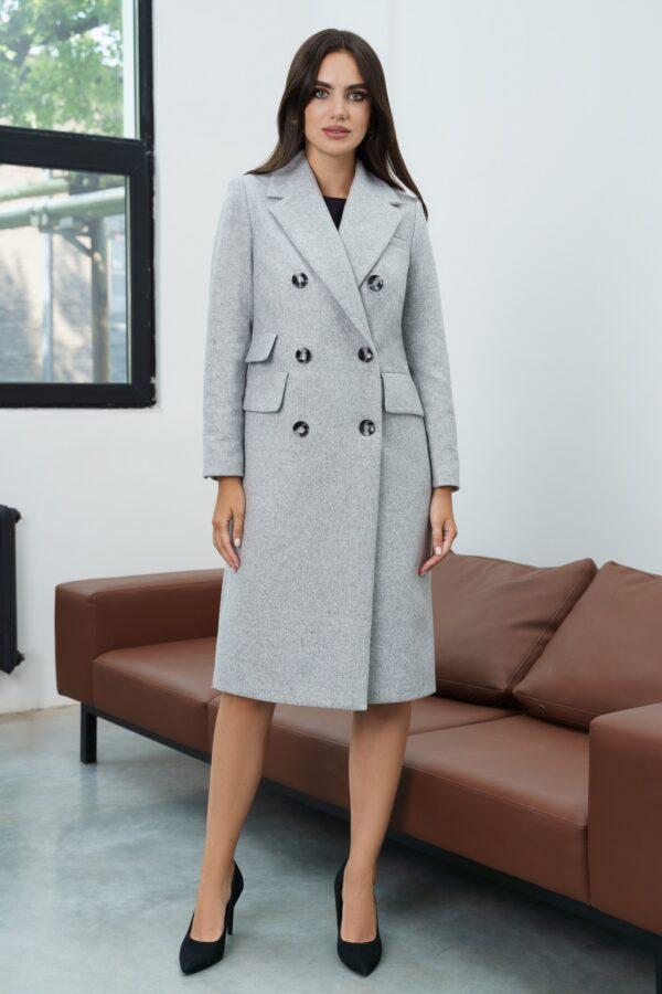 Пальто женское осеннее серое URS 21-689-С купить