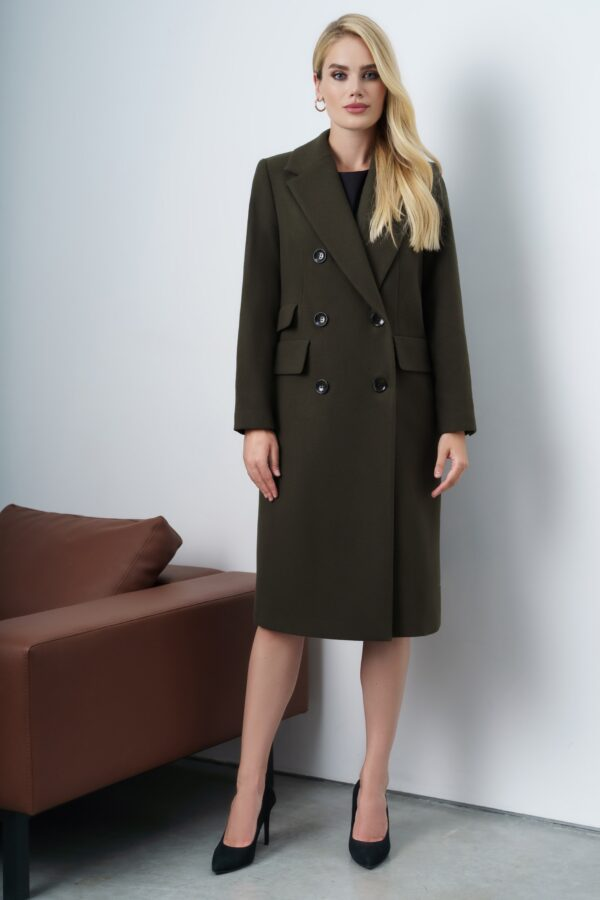 Пальто женское осеннее коричневое URS 21-689-В купить