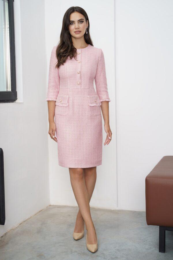 Платье в стиле Шанель с зауженной юбкой URS 21-918 купить