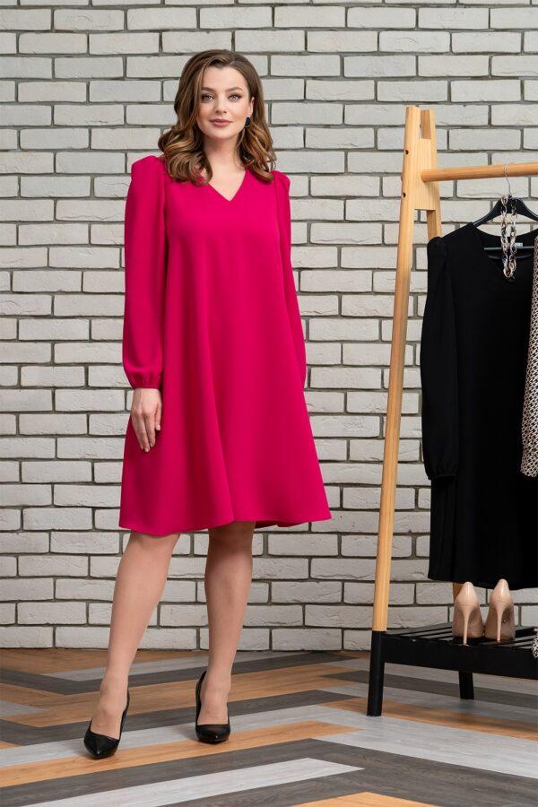 Платье фуксия свободное миди ELADY 3931 купить
