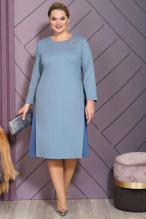 Голубое платье деловое ALANI COLLECTION 1541 купить