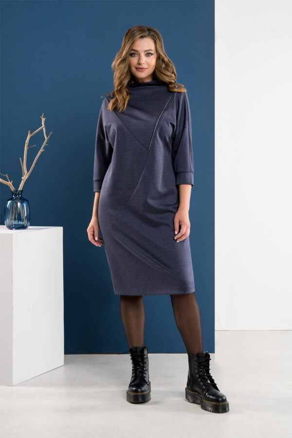 Стильное осеннее платье синее миди ELADY 4002 купить
