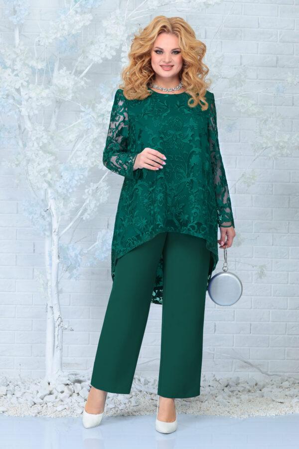 Костюм женский блузка из гипюра и брюки купить Ninele 7336