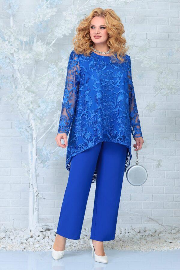 Костюм женский удлиненная блуза и брюки купить Ninele 7336